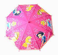 """Зонт детский трость полуавтомат """"Принцессы"""", фото 1"""