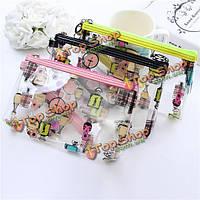Прозрачный водонепроницаемый макияж мешок косметический чехол для хранения ПВХ сумка сцепления