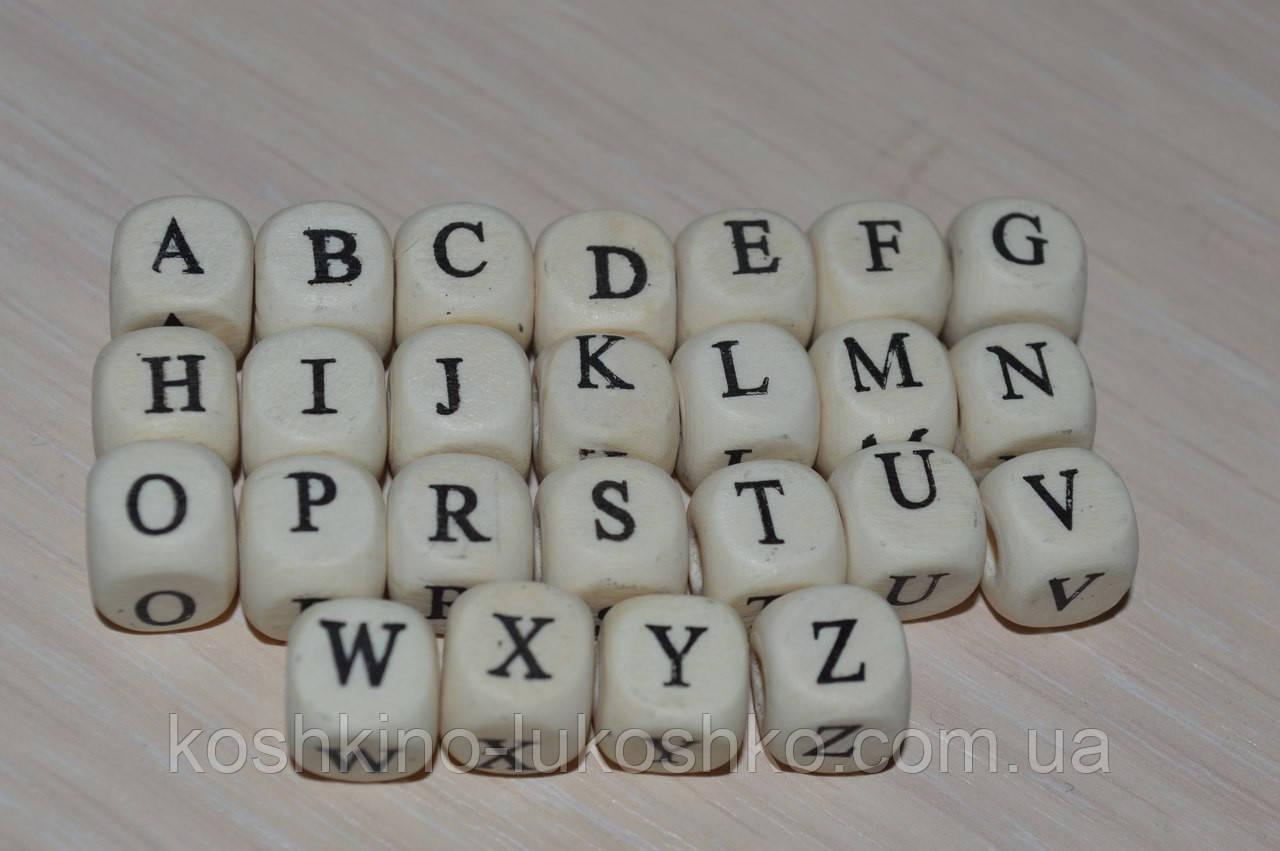 Бусина буква деревянная  А