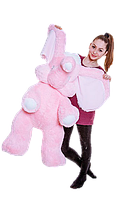 Слон мягкий большой плюшевый розовый 120 см,большие мягкие игрушки