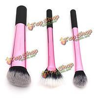 Профессиональная розовая косметика чистит порошковую щетку лица теней для век набора