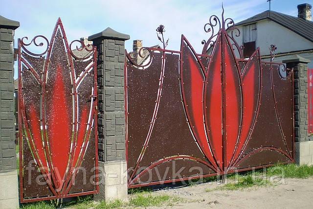 Кованные ворота 179