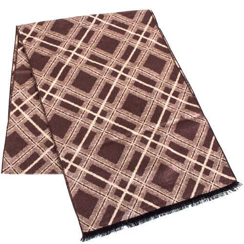 Стильный мужской шерстяной двухсторонний шарф 177 на 30 см ETERNO (ЭТЕРНО) ES2307-24 коричневый