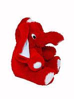 Слон мягкий большой плюшевый красный  55 см,большие мягкие игрушки