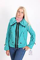 Женская курточка небесно-голубого цвета