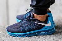 Кроссовки мужские Nike Air Max 2015 D735 синие