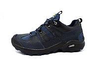 Мужские кожаные кроссовки Solomon Aero blue