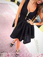 Платье нопреновое с молнией на груди АН 82582