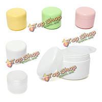Контейнер для крема для лица портативный косметический пустой уход за лицом бутылки пластмассы косметики фляги едет 50 г