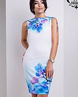 Бело-голубое платье | Лючия орхидея lzn