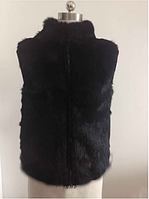 Женская меховая жилетка из меха кролика