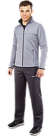 Спортивный костюм с начесом F50 - K-4203C светло-серый