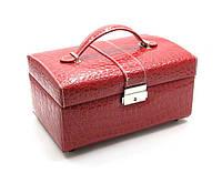 Шкатулка для бижутерии украшений с зеркальцем на кнопочке чемоданчик раздвижная