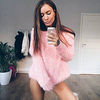Свитер женский Пушистик розовый , свитера женские