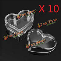 10шт форме сердца пустой прозрачный кувшин горшок крем коробка макияж крем для лица бальзам для губ контейнер