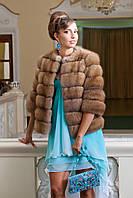 """Полушубок из светлой куницы """"Лика"""" marten fur coat jacket, фото 1"""