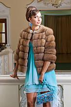 """Полушубок из светлой куницы """"Лика"""" marten fur coat jacket"""