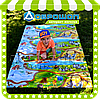 Детский игровой коврик для ползания «Happy Kinder» ХL 2000х1200x8 мм.