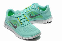Кроссовки женские Nike Free Run Plus 3 D750 бирюзовые