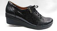 Туфли черные кожаные на шнурках и на молнии, больших размеров ( 41 - 43 ).