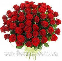 "Букет из красных роз"" Жгучая Кармен""51 роза"
