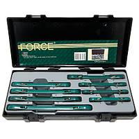 Набор ключей накидных с трещоткой, 8 предметов, 6-22 мм Force