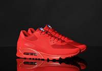 Кроссовки женские Nike Air Max 90 Hyperfuse D754 красные