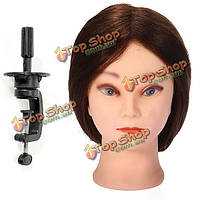 19-дюймов салон человеческих волос парикмахерское практика обучения головка зажим регулируемый держатель
