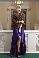 """Полушубок из темной куницы """"Анастасия"""" marten fur coat jacket, фото 1"""