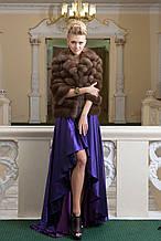 "Кожушок з темної куниці ""Анастасія"" marten fur coat jacket"