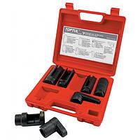 Набор головок для обслуживания датчика кислорода, 7 предметов Toptul