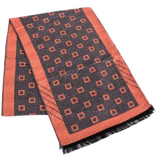 Практичный мужской шерстяной двухсторонний шарф 182 на 31 см ETERNO (ЭТЕРНО) ES2107-8 серый