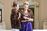 """Шуба полушубок из куницы """"Аделина"""" marten fur coat jacket, фото 10"""