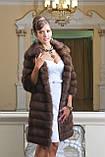 """Шуба полушубок из куницы """"Аделина"""" marten fur coat jacket, фото 9"""