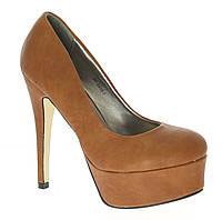 Женские бежевые туфли, фото 1
