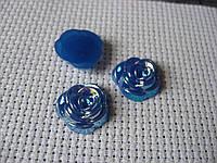 Декор для бантов и скрапа. Роза синяя