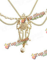 Корона Перл кисточкой цепочки ювелирные изделия романтический кристалл сплав цинка держатель