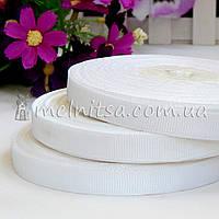 Лента репсовая белая, 0,9 см