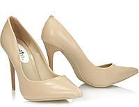 Женские туфли бежевого цвета , фото 1