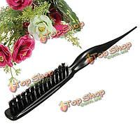Профессиональный салон парикмахерских дразня черный клубок щетка для волос гребень