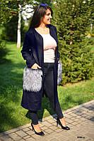 Женское пальто больших размеров 8004 ш