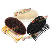 Новые дамы стильный начес волос объем улья в форме вставляя гребень