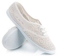 Ажурные балетки на шнурках