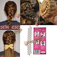 Серый французский волос плетение волос поворот булочка инструмент ролик