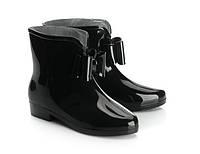 Резиновые сапоги черного цвета для женщин  размер 38,39,40 маломерки, фото 1