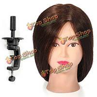 22-дюймов человеческих волос парикмахерской практике обучения головка с зажимом