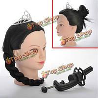 Синтетические волосы парикмахерские обучение голова манекена с бесплатным зажима