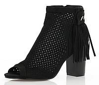 Женские ботинки с открытым носком на весну