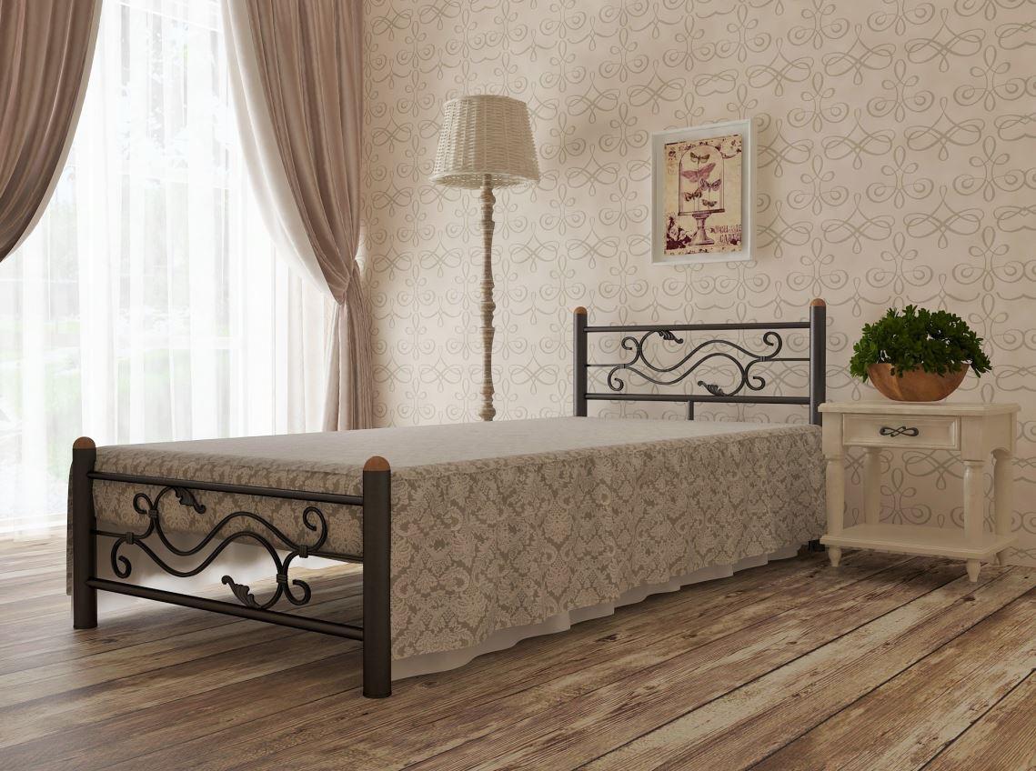 Кровать односпальная металлическая Соната - Матрас Диван - мебельный интернет магазин в Киеве