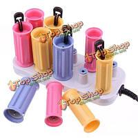 220 jf888-10 керамическая электрическая для завивки волос роликовые вьющиеся DIY салон инструмент для укладки девушки дома